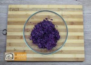 Lilakáposzta fasírt recept, lilakáposzta fasírt elkészítése 1. lépés