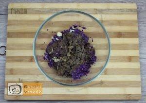 Lilakáposzta fasírt recept, lilakáposzta fasírt elkészítése 2. lépés