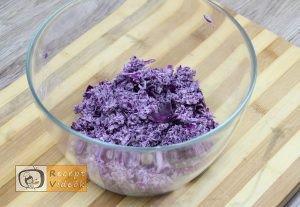 Lilakáposzta fasírt recept, lilakáposzta fasírt elkészítése 3. lépés