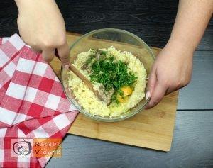 sajttal töltött krumpli tallér recept elkészítése 3. lépés
