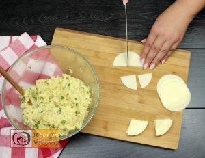 sajttal töltött krumpli tallér recept elkészítése 4. lépés