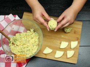 sajttal töltött krumpli tallér recept elkészítése 5. lépés