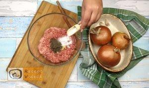 Hússal töltött hagymakarikák recept, hússal töltött hagymakarikák elkészítése 2. lépés