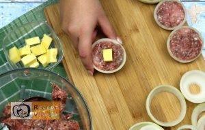 Hússal töltött hagymakarikák recept, hússal töltött hagymakarikák elkészítése 5. lépés