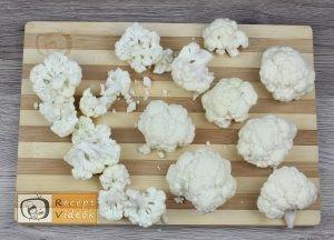 Karfiol rudacskák recept, karfiol rudacskák elkészítése 1. lépés