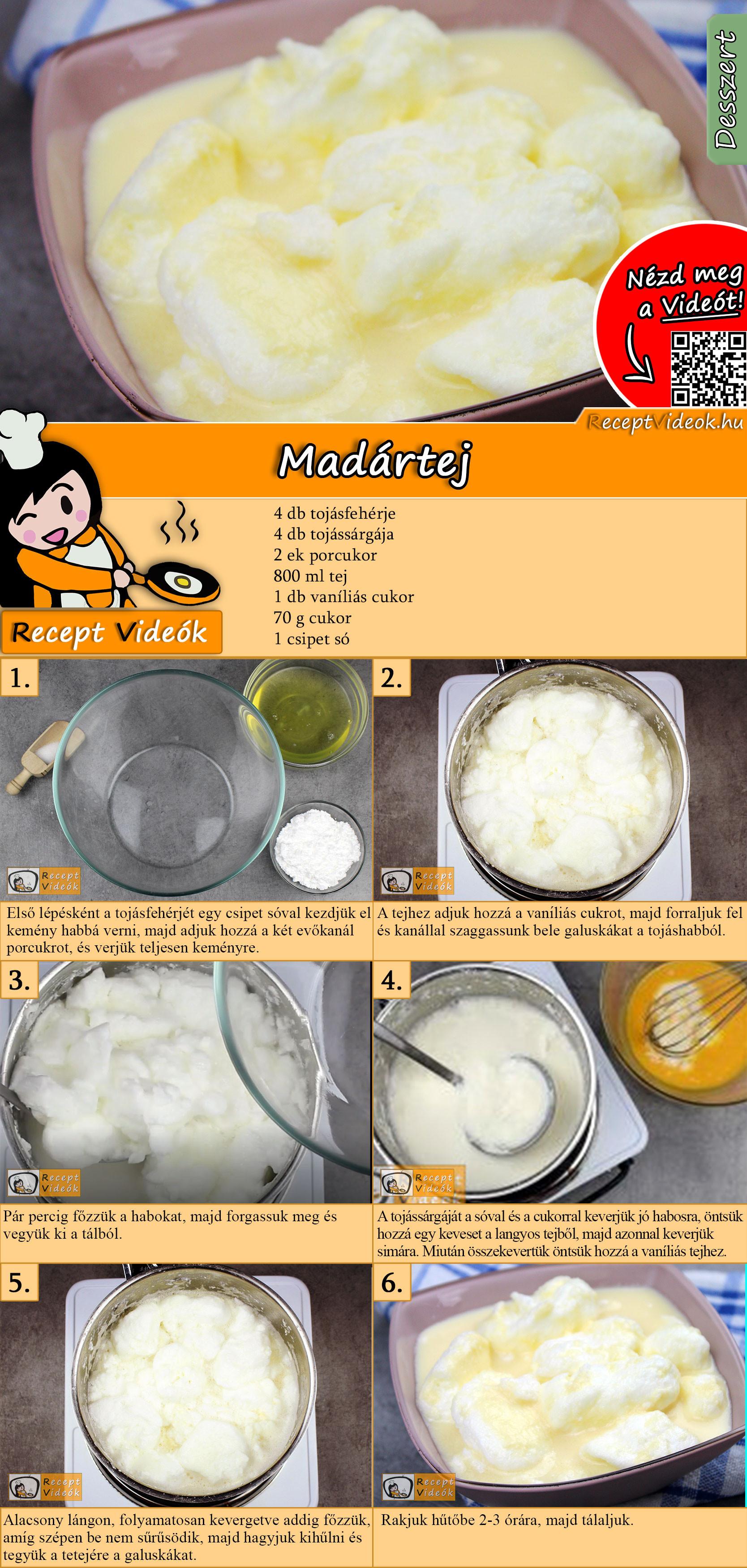 Madártej recept elkészítése videóval
