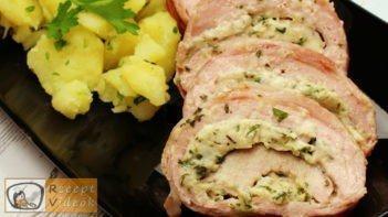 Dupla baconös karaj recept, dupla baconös karaj elkészítése - Recept Videók