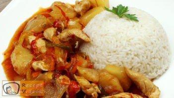 Kínai édes-savanyú csirke recept elkészítése - Recept Videók