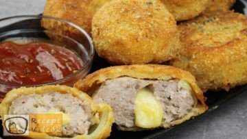 Hússal töltött hagymakarikák recept, hússal töltött hagymakarikák elkészítése - Recept Videók
