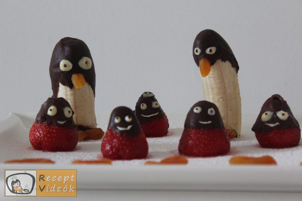 Banán pingvinek recept, banán pingvinek elkészítése - Recept Videók