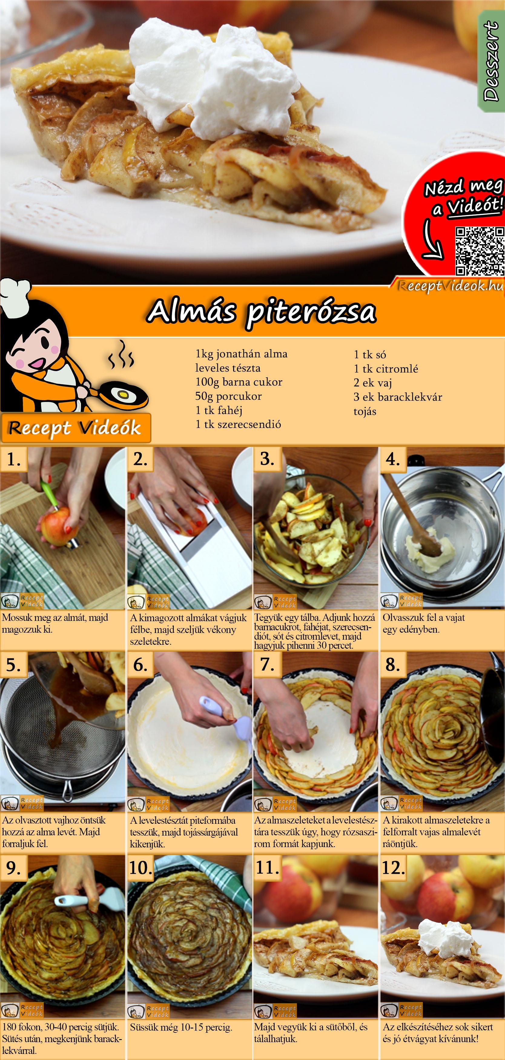 Almás piterózsa recept elkészítése videóval