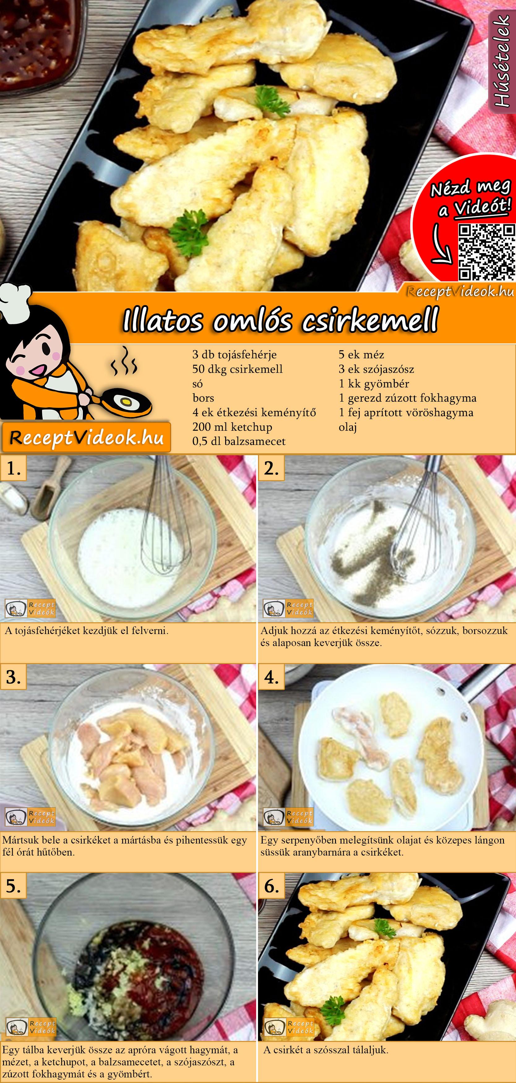 Illatos omlós csirkemell recept elkészítése videóval