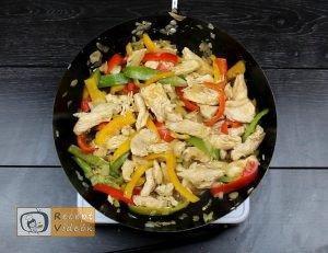 csirkés zöldséges penne recept, csirkés zöldséges penne elkészítése 3. lépés