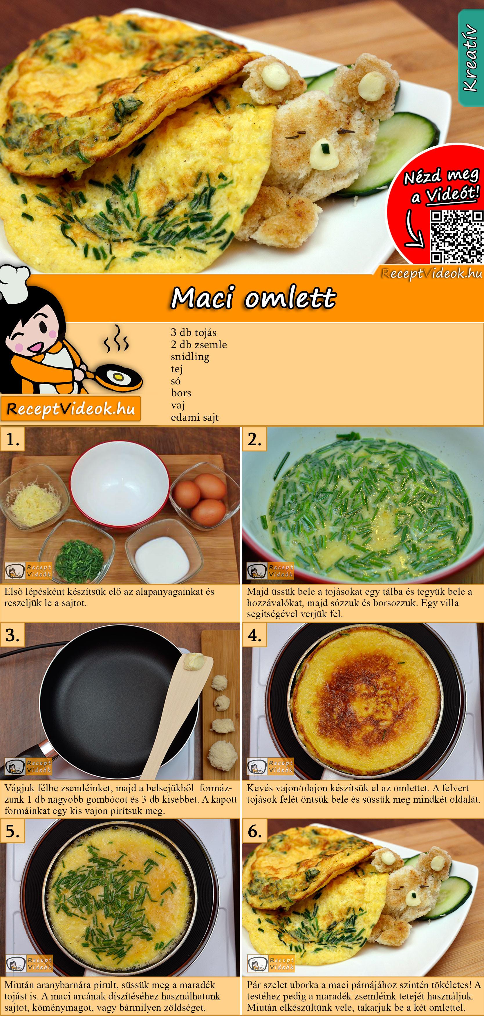 Maci omlett recept elkészítése videóval
