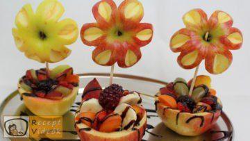 Gyümölcskehely almavirággal recept, gyümölcskehely almavirággal elkészítése - Recept Videók