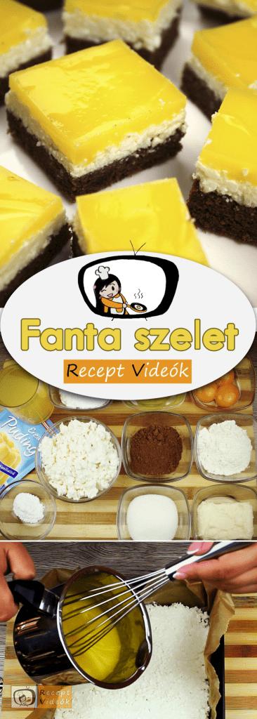 Fanta szelet (mirinda szelet) recept elkészítése videóval