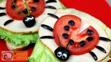 Katica szendvics recept, katica szendvics készítése - Recept Videók