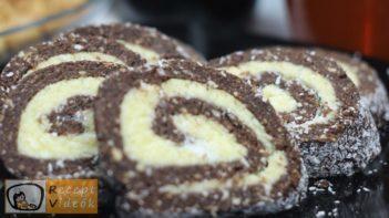 Kókuszos keksztekercs recept, kókuszos keksztekercs elkészítése - Recept Videók