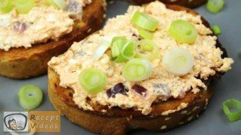 Lilahagymás körözött recept, lilahagymás körözött elkészítése - Recept Videók