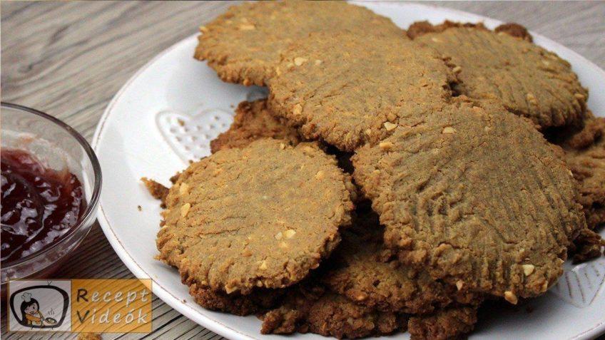 Mogyoróvajas keksz recept, mogyoróvajas keksz elkészítése - Recept Videók