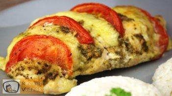 Pestos csirke mozzarellával recept elkészítése - Recept Videók