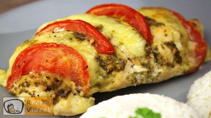 Pestos csirke mozzarellával