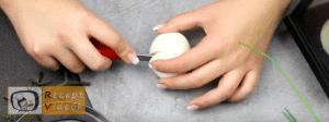 Halloweeni süti recept (tojás szemek) 1. lépés