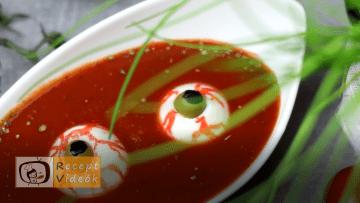 Halloweeni süti recept (tojás szemek) - Recept Videók