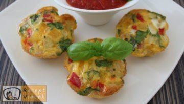 Tojás muffinok recept, tojás muffinok elkészítése - Recept Videók