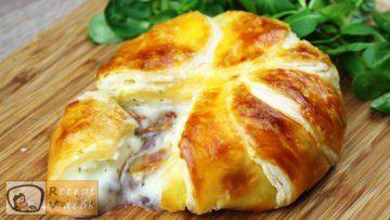 Töltött camembertes buci recept elkészítése - Recept Videók