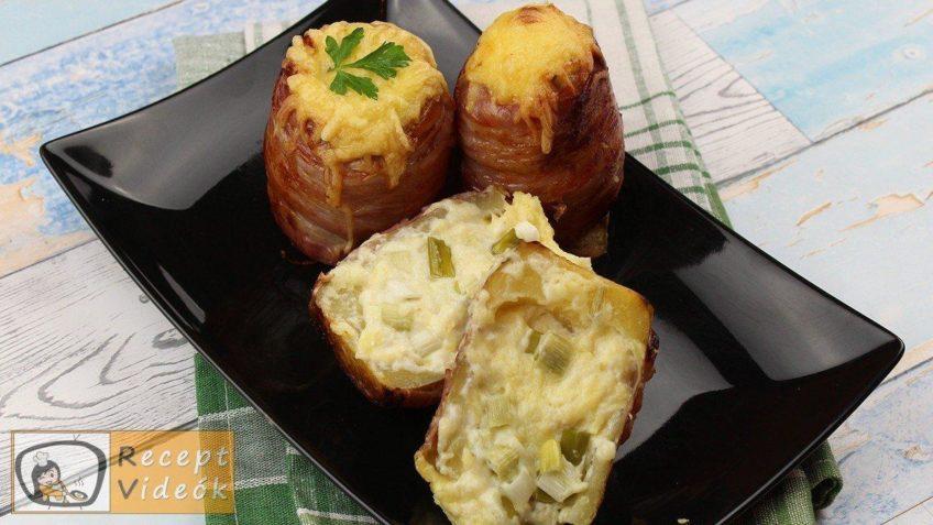 Töltött krumpli recept, töltött krumpli elkészítése - Recept Videók