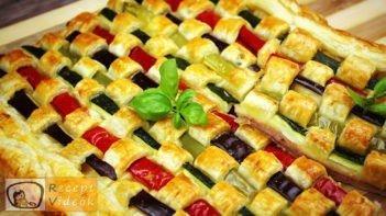 Zöldséges pite recept, zöldséges pite elkészítése - Recept Videók