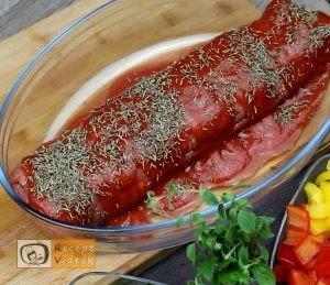 Húsos-makaróni tekercs recept, húsos-makaróni tekercs elkészítése 5. lépés