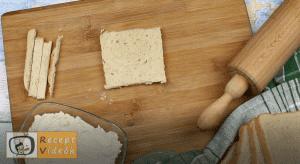 Sonkás-sajtos rudacskák recept, sonkás-sajtos rudacskák elkészítése 1. lépés