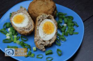 tojással töltött fasírtgombóc recept elkészítése - Recept Videók