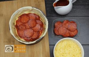 Rakott mini pizza recept, rakott mini pizza elkészítése 5. lépés