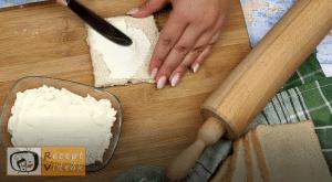 Sonkás-sajtos rudacskák recept, sonkás-sajtos rudacskák elkészítése 3. lépés