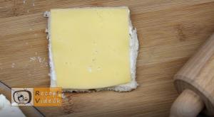 Sonkás-sajtos rudacskák recept, sonkás-sajtos rudacskák elkészítése 4. lépés