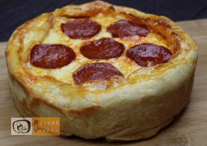 Rakott mini pizza recept, rakott mini pizza elkészítése 7. lépés