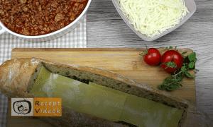 Lasagne baguette recept, lasagne baguette elkészítése 8. lépés