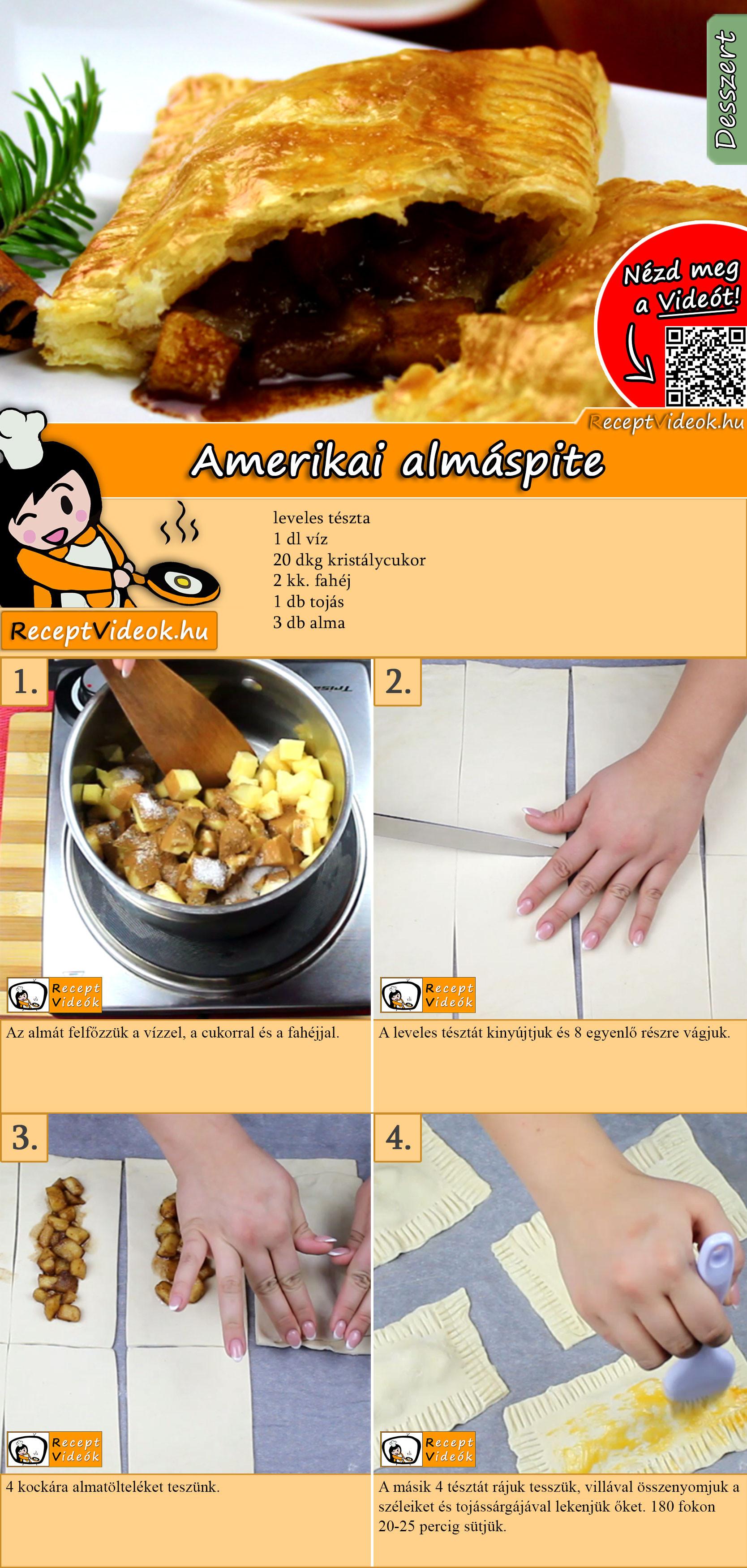 Amerikai almáspite recept elkészítése videóval