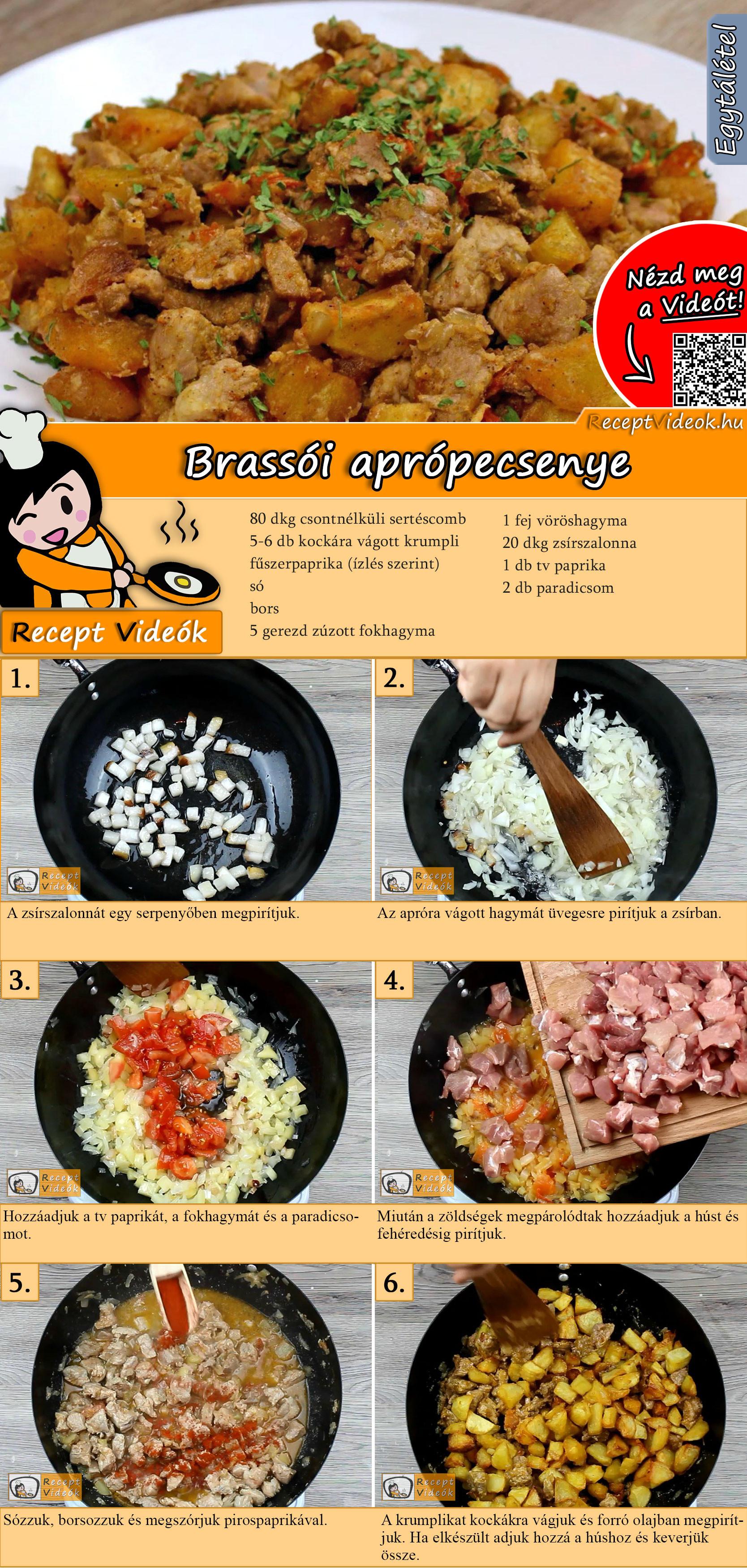 Brassói aprópecsenye recept elkészítése videóval
