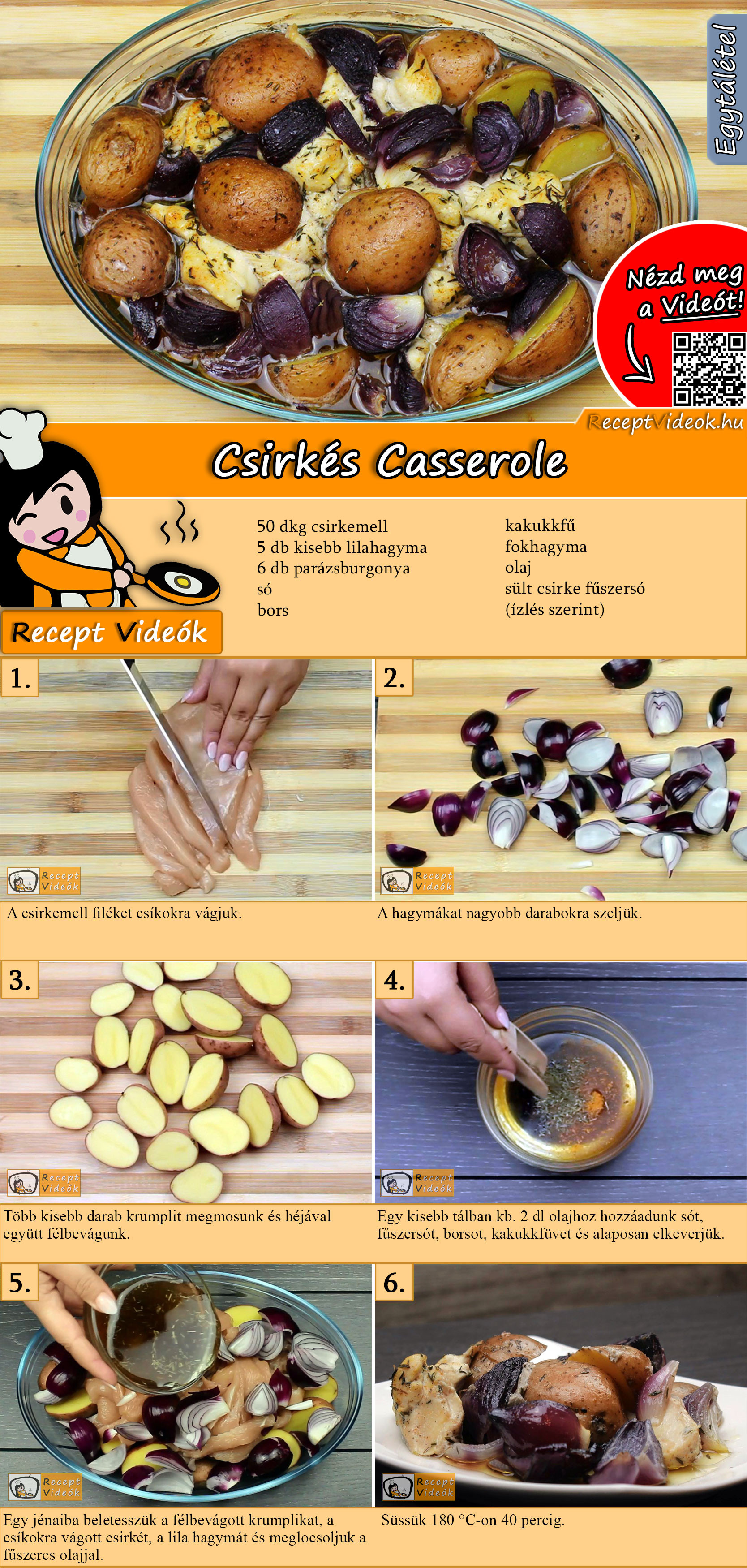 Csirkés Casserole recept elkészítése videóval