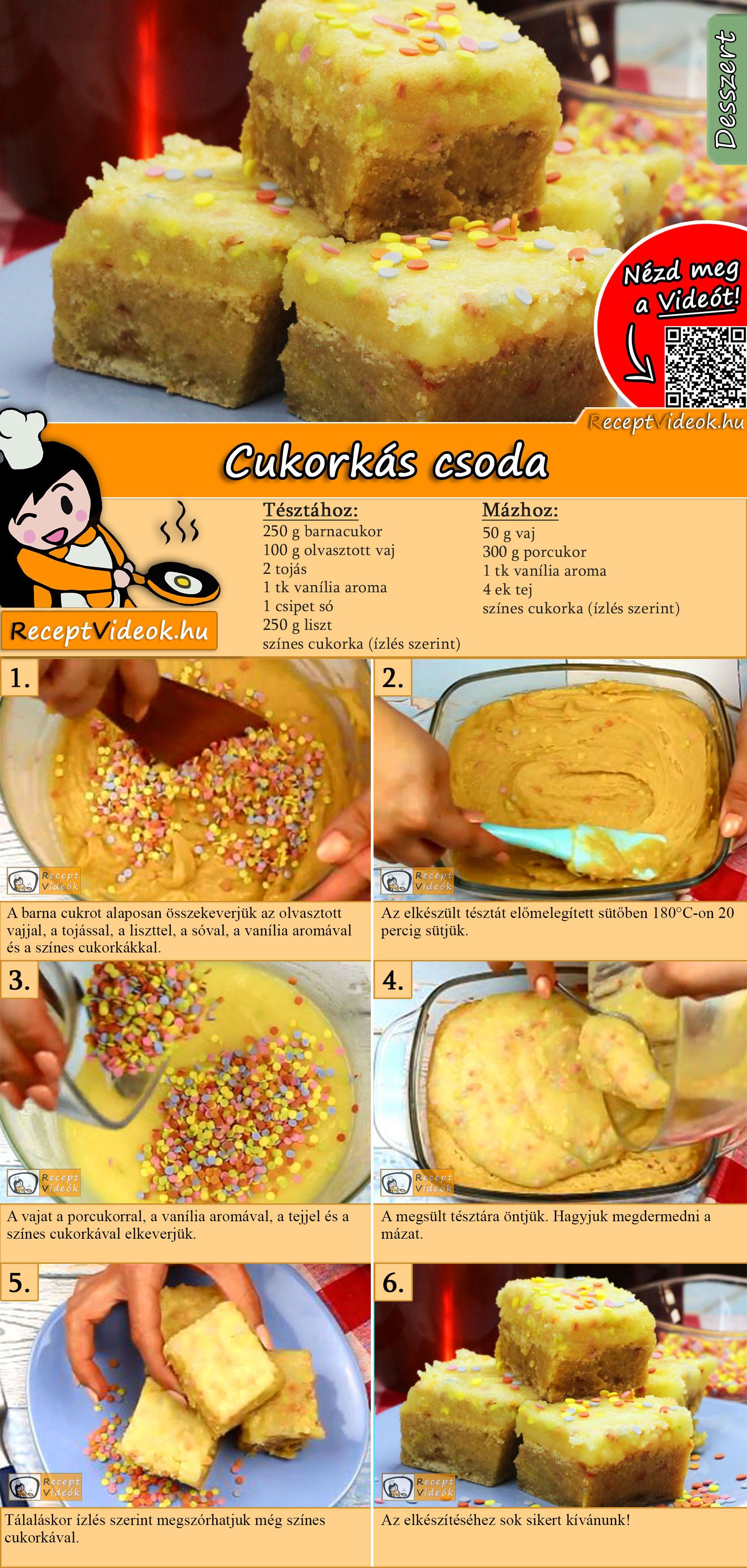 Cukorkás csoda recept elkészítése videóval