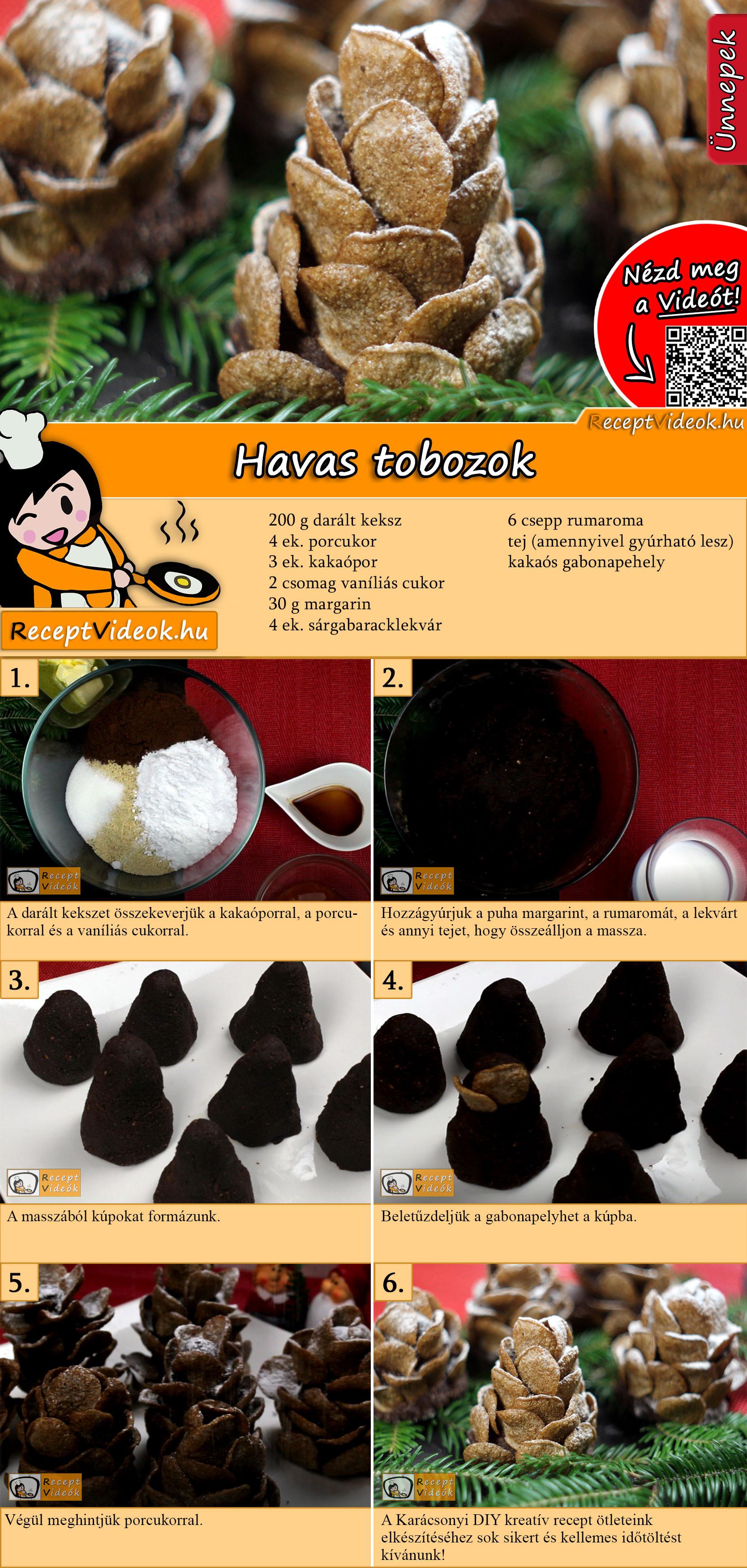 Havas tobozok recept elkészítése videóval