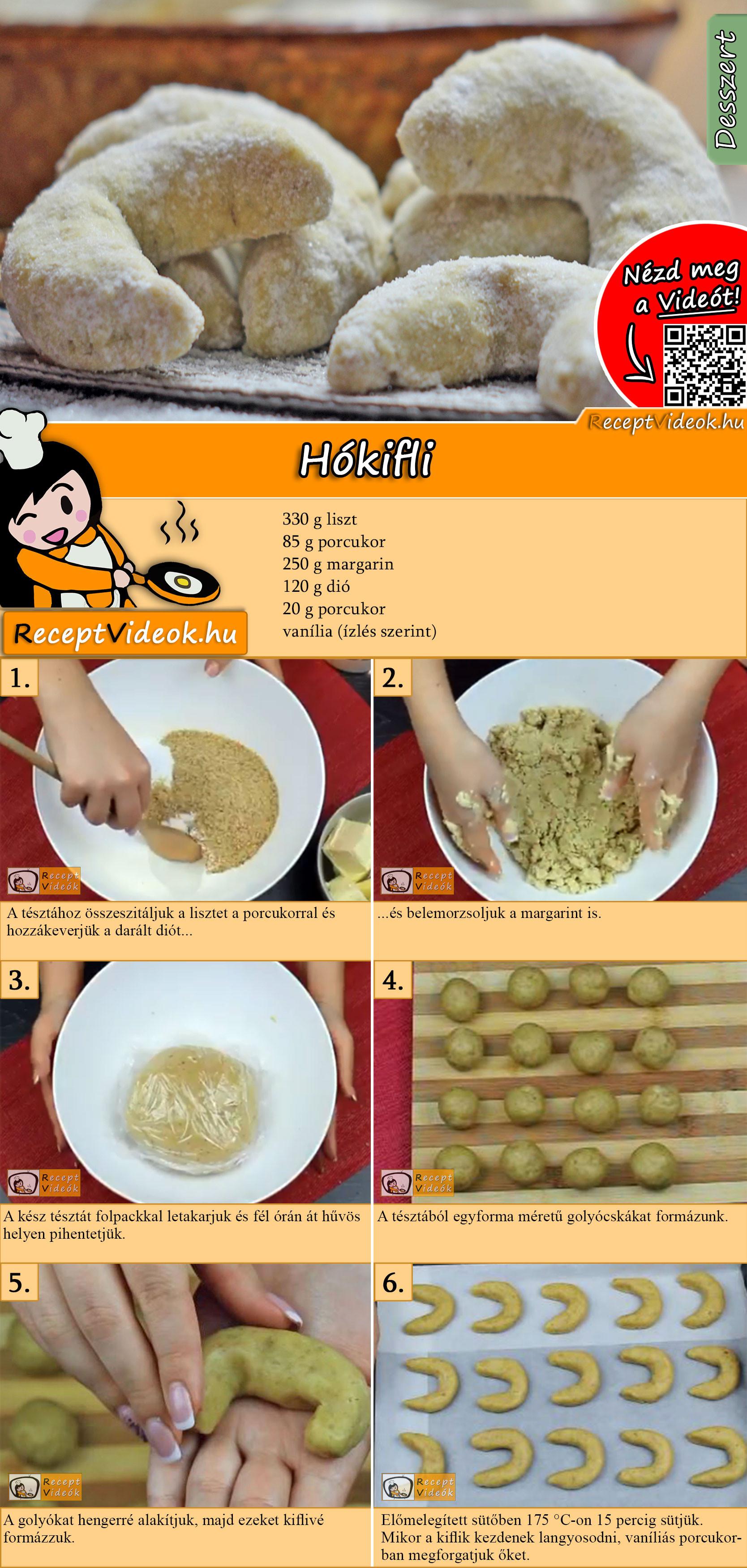 Hókifli recept elkészítése videóval