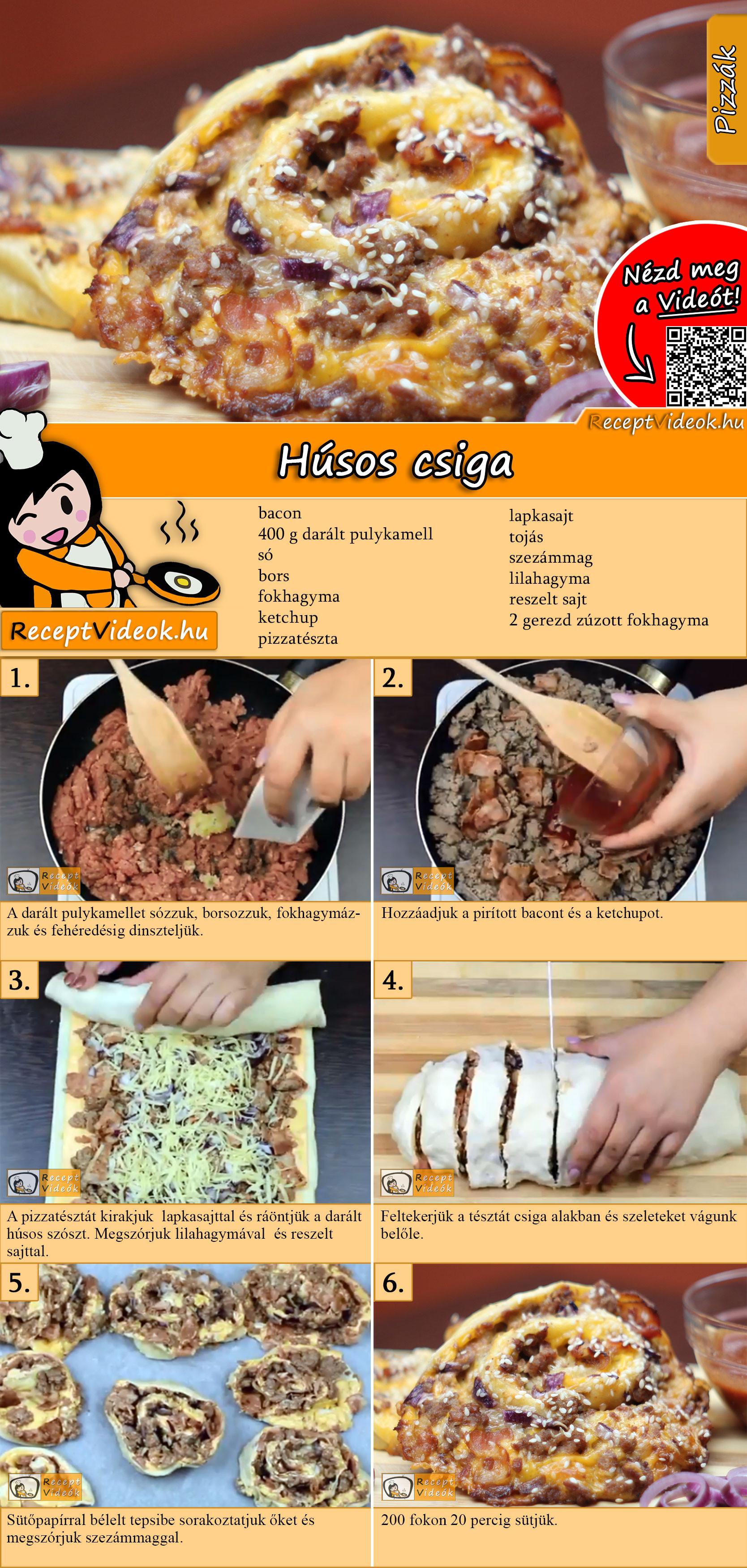 Húsos csiga recept elkészítése videóval