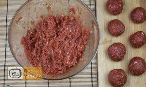 Tűzdelt húsgombócok recept elkészítése 2. lépés