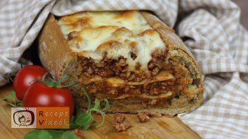Lasagne baguette recept, lasagne baguette elkészítése - Recept Videók