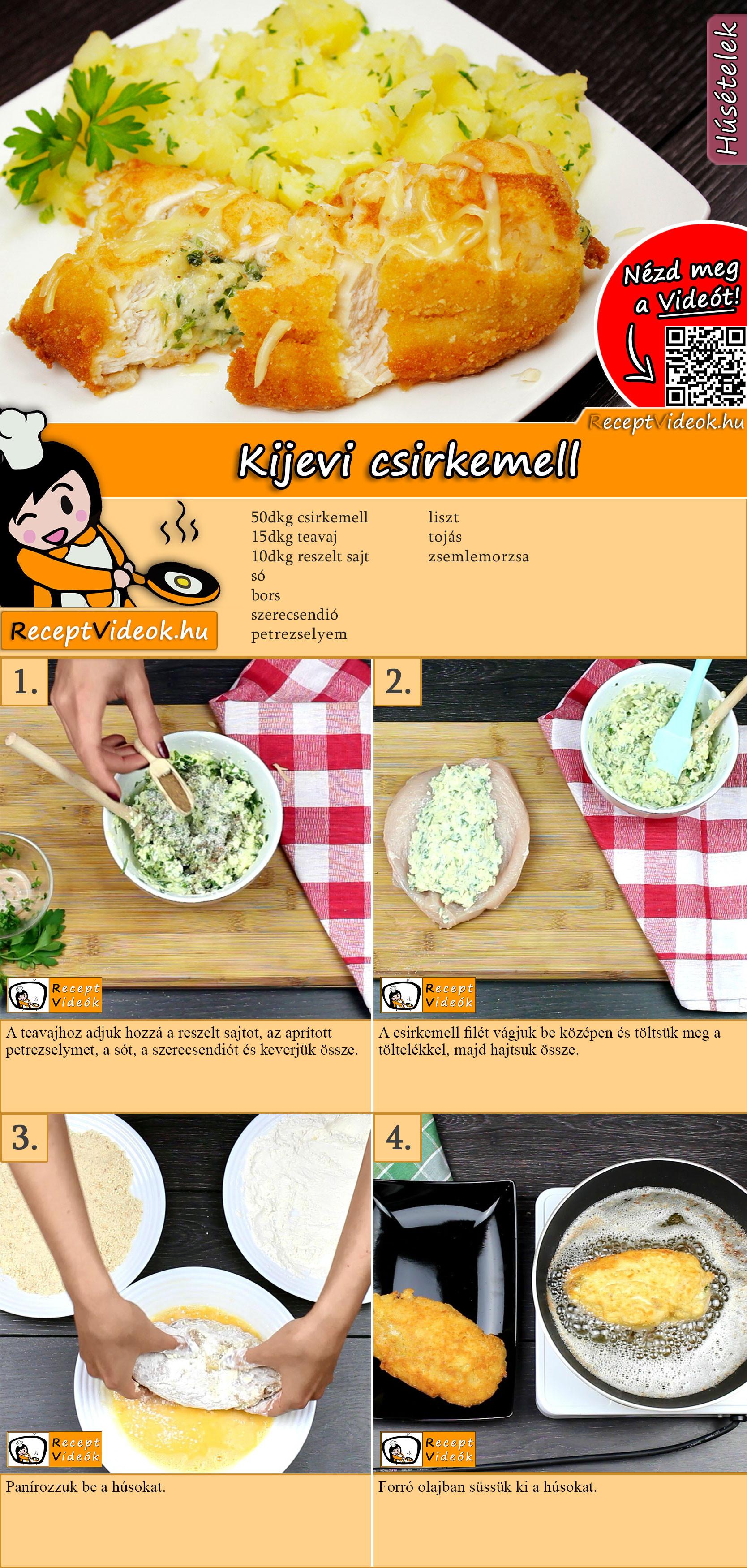 Kijevi csirkemell recept elkészítése videóval